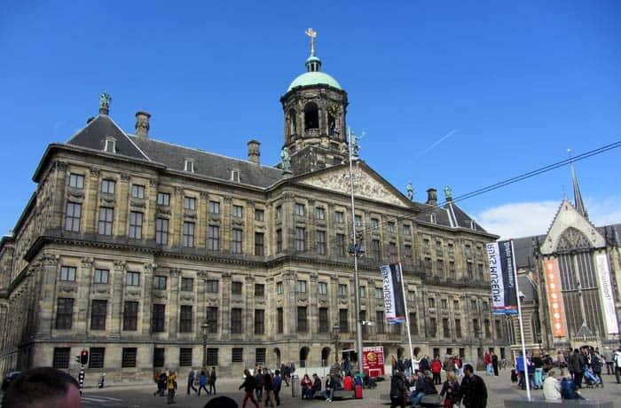 Palacio Real en el Dam Ámsterdam en tres días