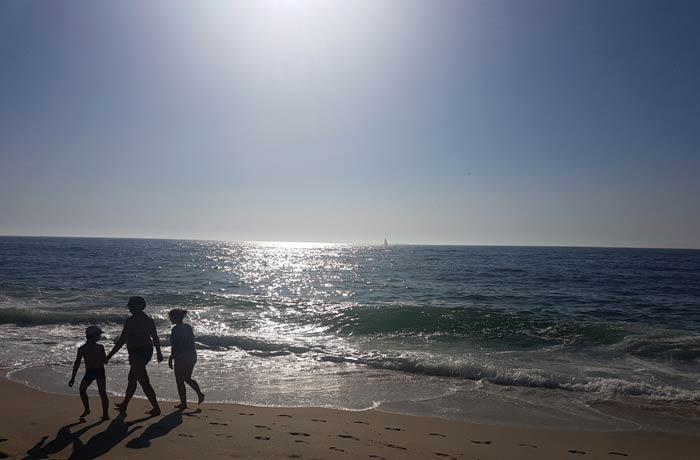La playa de Costa Nova al atardecer
