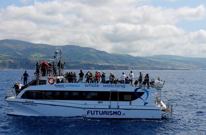 Barco de Futurismo para ver ballenas en Azores