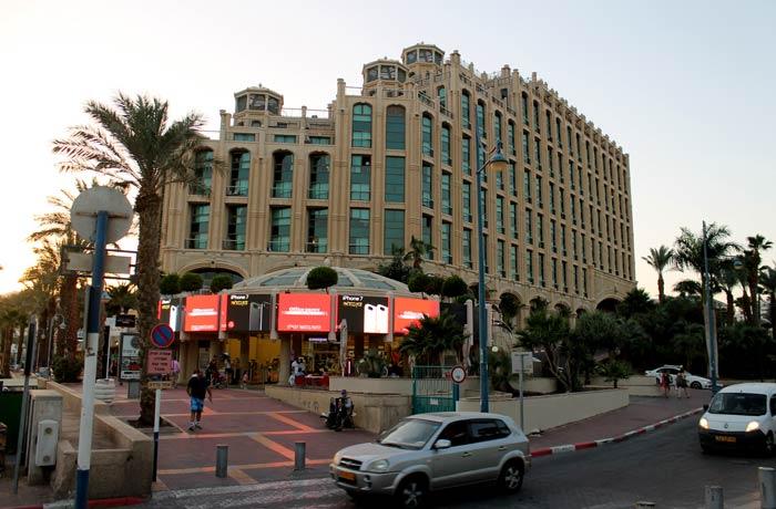 Uno de los lujosos hoteles de Eilat