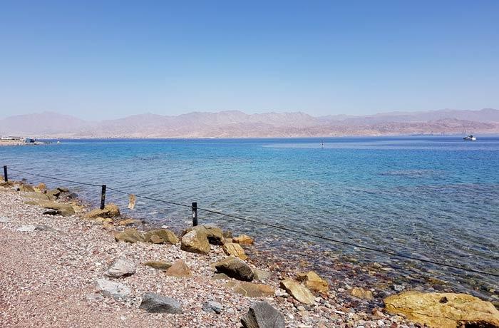 Playa del mar Rojo donde hicimos esnórquel qué hacer en Eilat
