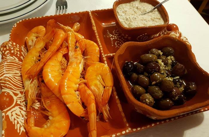 Entrante del restaurante A Cantarinha comer en Figueira da Foz