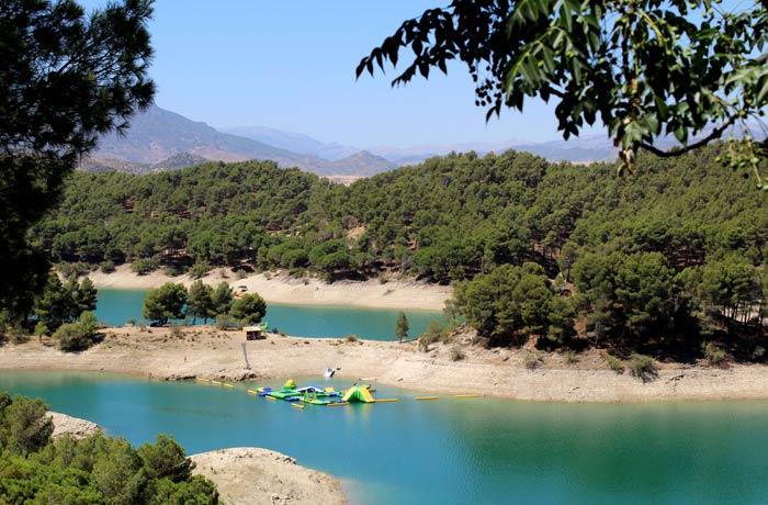 Zona de baño del río Guadalhorce Caminito del Rey