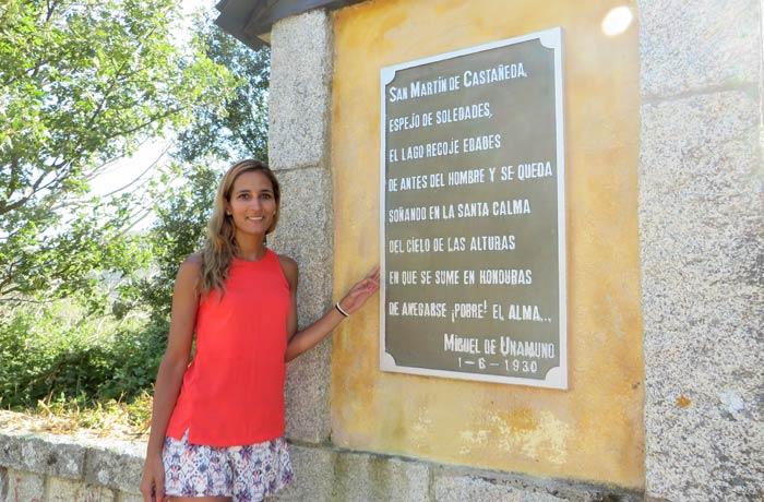 Palabras que Unamuno le dedicó a San Martin de Castañeda