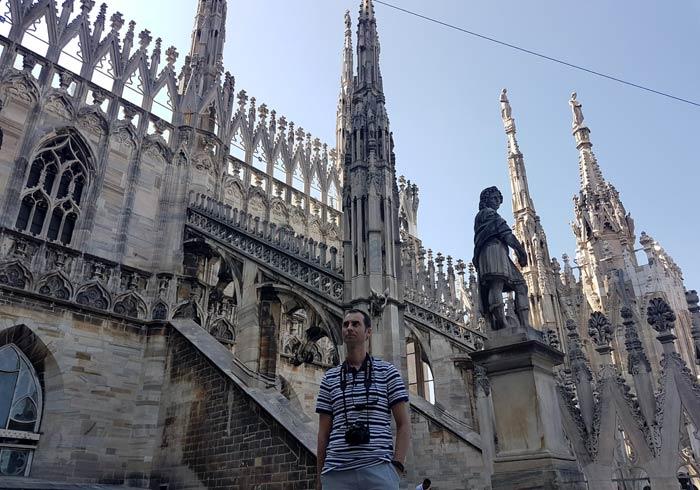 En la terraza del Duomo qué ver en Milán
