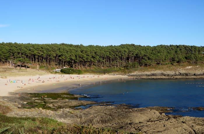 Vista de la playa de Melide