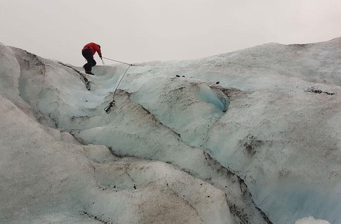Ascensión por el glaciar