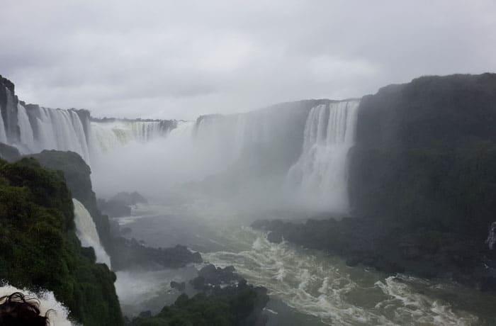Garganta del Diablo vista desde el lado brasileño Cataratas del Iguazú