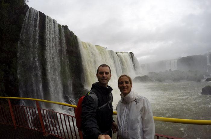 Desde el mirador de las cataratas en Brasil Cataratas del Iguazú