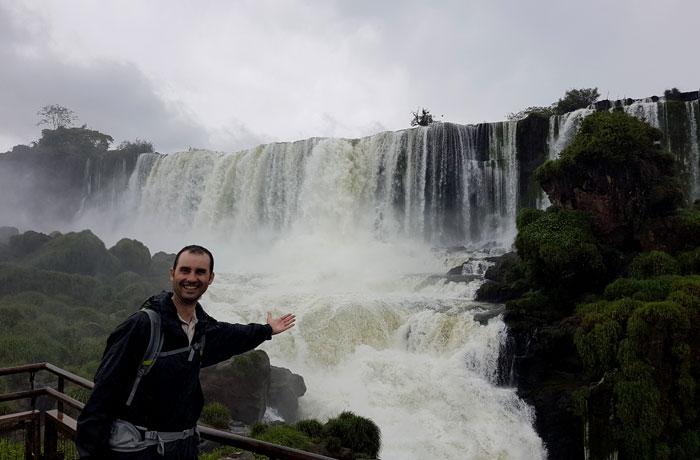 Salto San Martín desde la isla del mismo nombre Cataratas del Iguazú