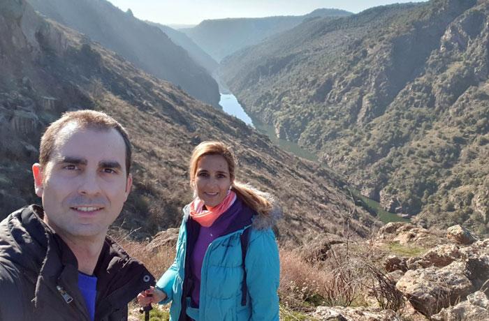 Selfi en las Arribes del Duero senderismo