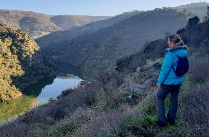 Vista desde el sendero de ida Arribes del Duero senderismo