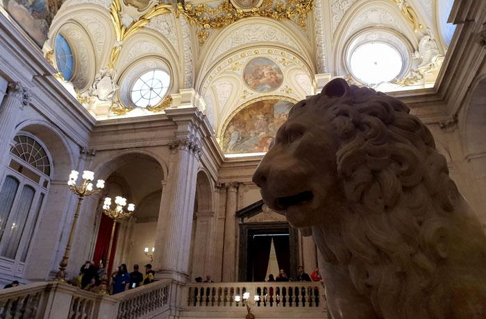 Entrada al Palacio Real de Madrid