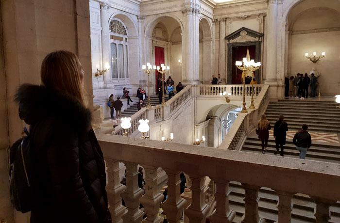Escalinata del Palacio Real de Madrid