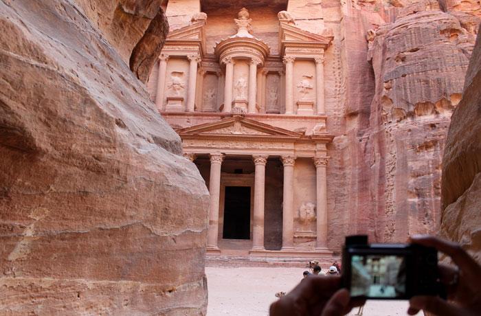 Fotografiando el Tesoro que ver en Petra