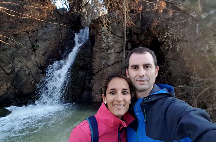 Ante la cascada da Pantanha