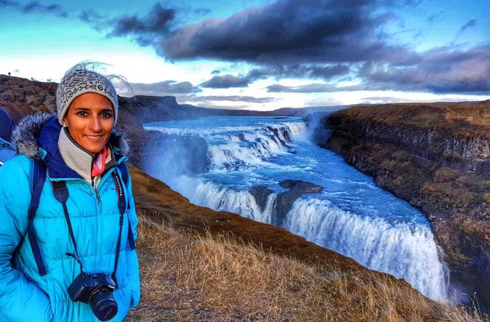 Cascada de Gullfoss Islandia en una semana