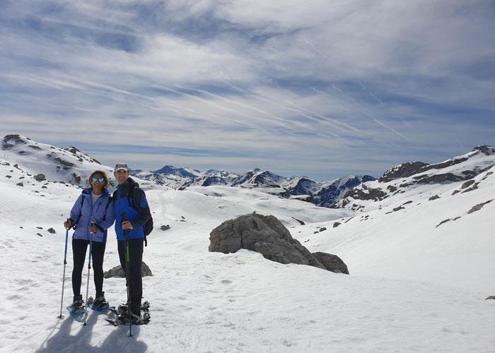 Sobre la nieve en Fuente Dé Liébana y Picos de Europa