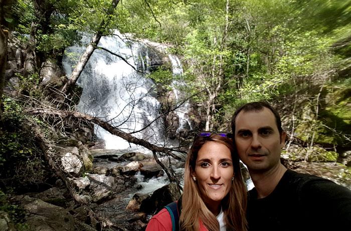 'Selfie' ante una de las cascadas