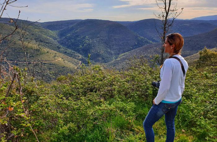 Vista del valle del río Sangusín Sierra de Francia