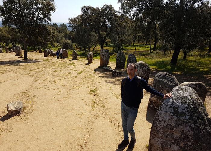 Vista del crómlech de los Almendros