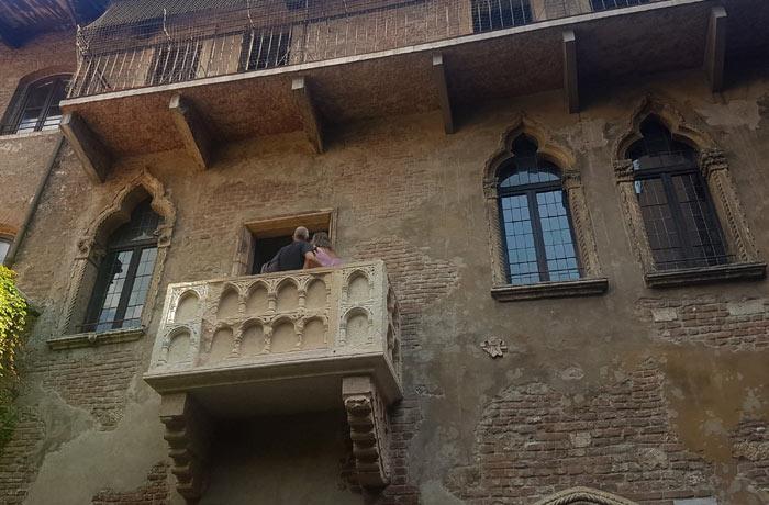 Balcón de la casa de Julieta qué ver en Verona
