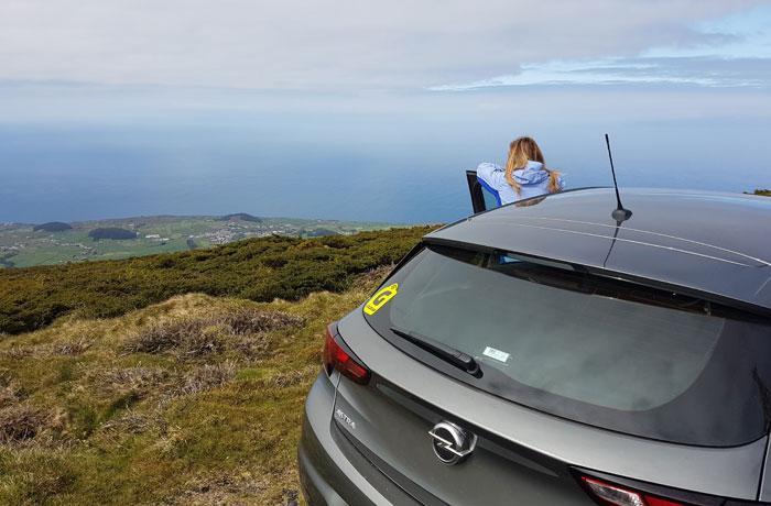 Nuestro coche de alquiler de Goldcar en Terceira