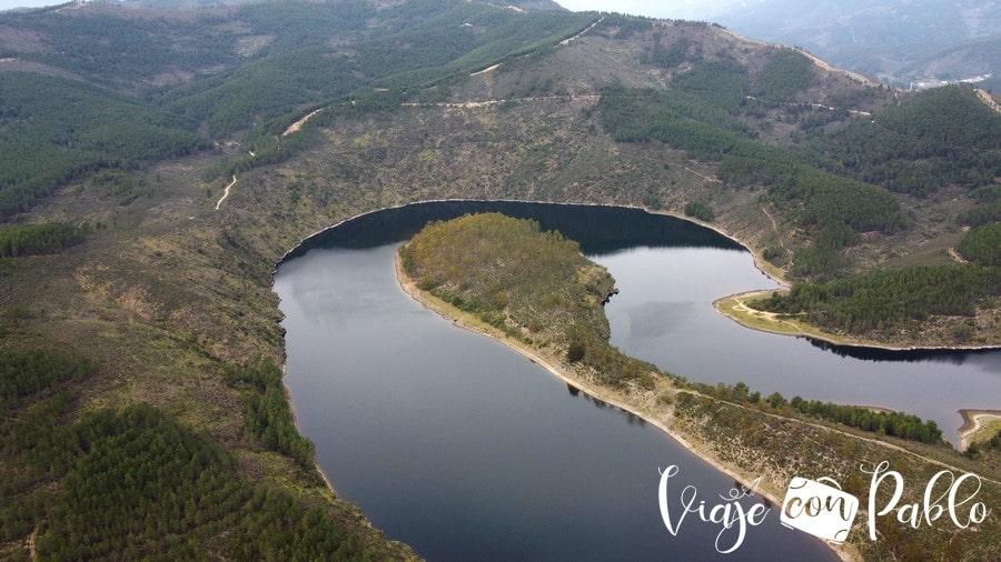 Vista aérea del meandro del Melero