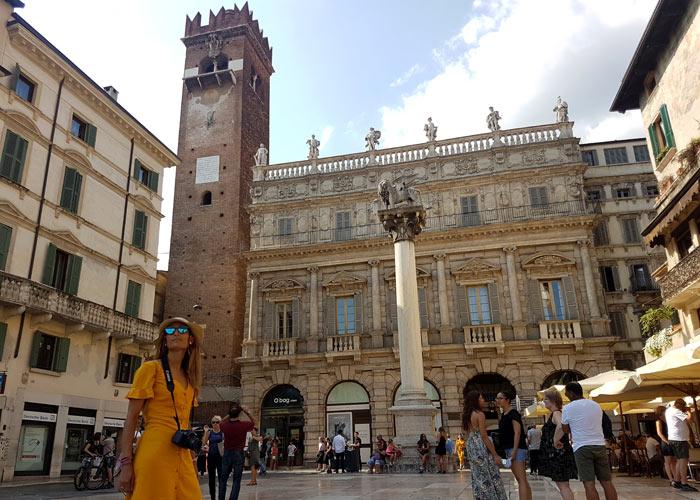 Palacio Maffei en la piazza delle Erbe