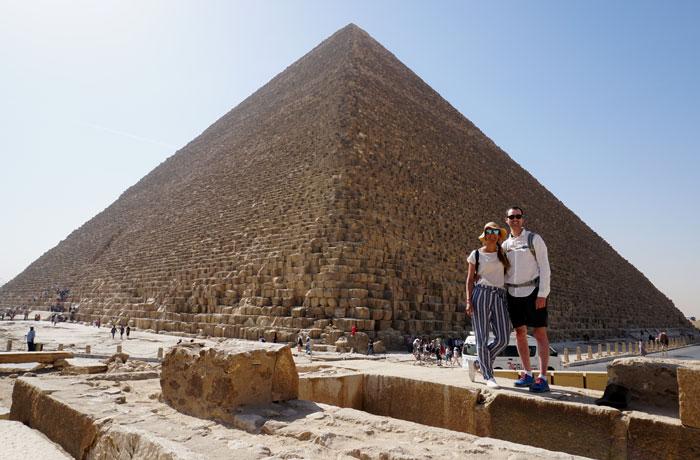 Ante la gran pirámide Egipto en una semana