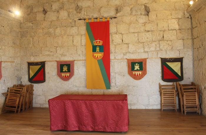 Interior del castillo de Tiedra