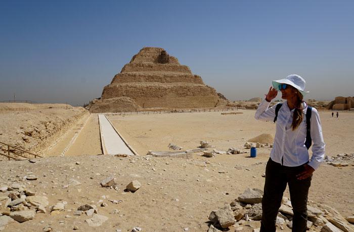 Pirámide escalonada de Zoser en Sakkara