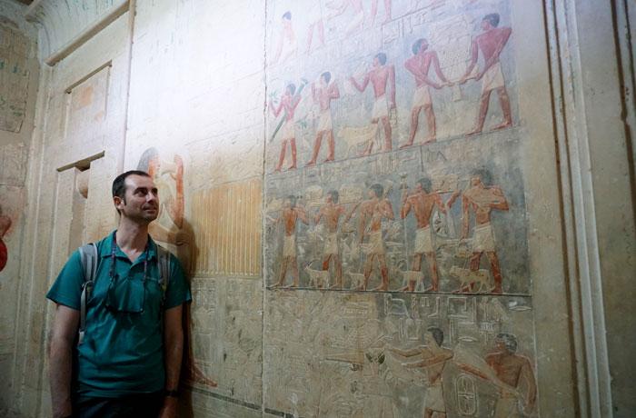 Tumbas de nobles en Sakkara Egipto en una semana