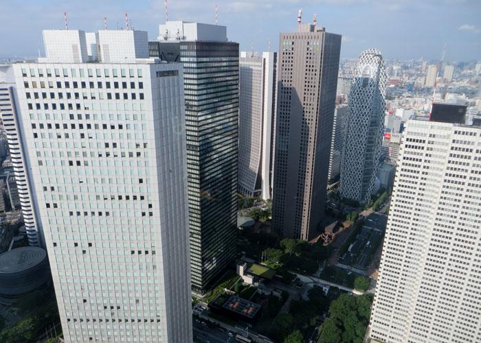 Algunos de los rascacielos de Shinjuku vistas de Tokio