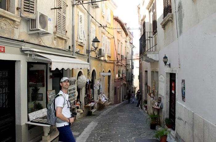 Un calle típica de Piran