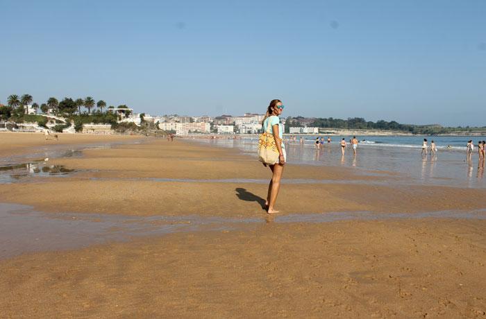 Paseando por la playa del Sardinero