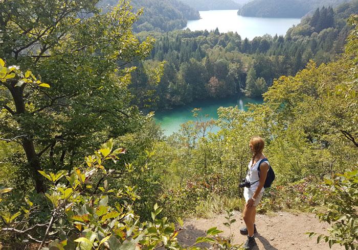 Panorámica de los lagos de Plitvice