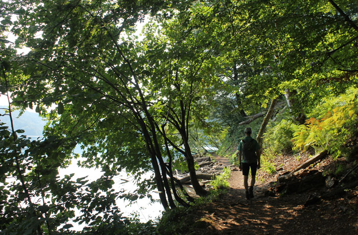 Ruta K junto al lago Kozjak totalmente solitaria