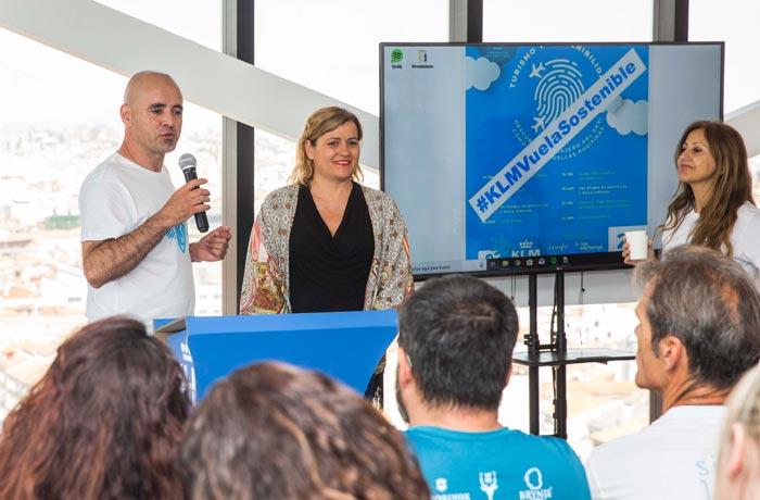 Marco Volador y Gema Santiago, en la presentación de la jornada
