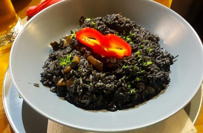 Risotto del restaurante Eat Me comer en Zadar