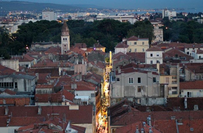 Vistas desde el campanario de la catedral de Santa Anastasia qué ver en Zadar