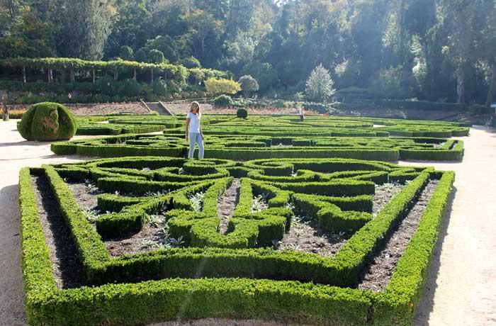 Jardín del palacio real de Bussaco