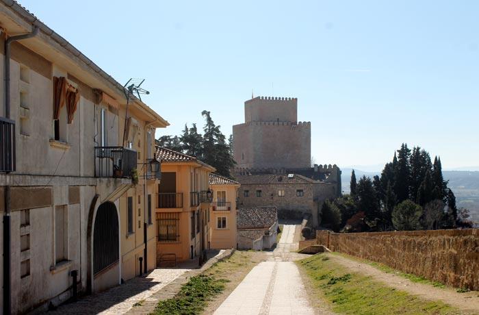 Paseo por de la muralla con el alcázar de Enrique II de Trastamara al fondo