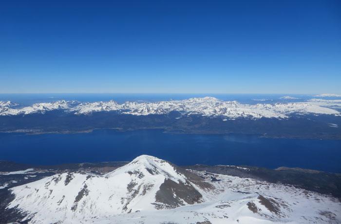 Ushuaia desde el aire