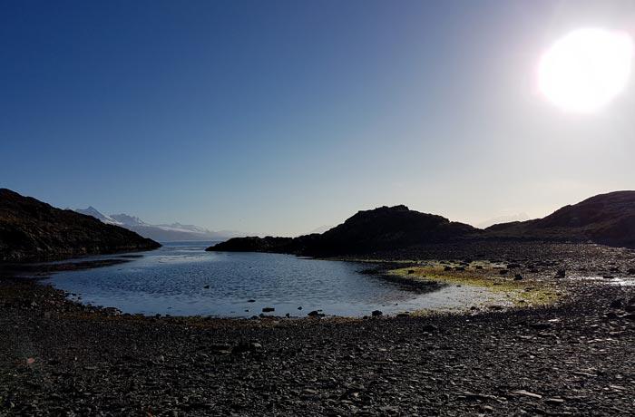 Vista de la isla H a punto de atardecer que hacer en Ushuaia