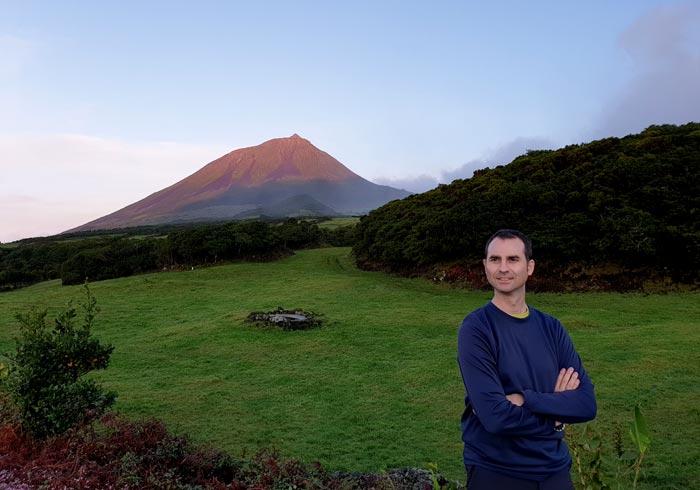 Vista de la montaña de Pico