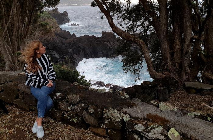 Vistas del Atlántico desde Aldeia da Fonte