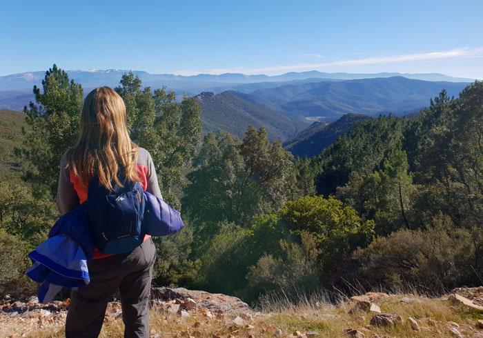 Vista de la Sierra de Béjar al fondo