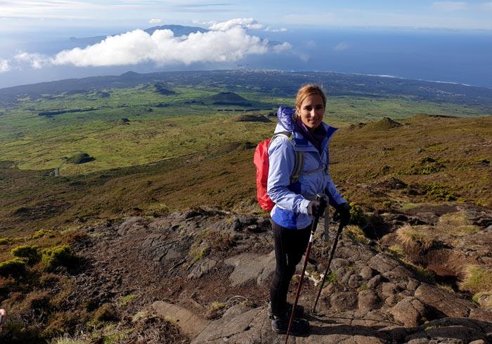 Vistas durante la bajada de la Montaña de Pico