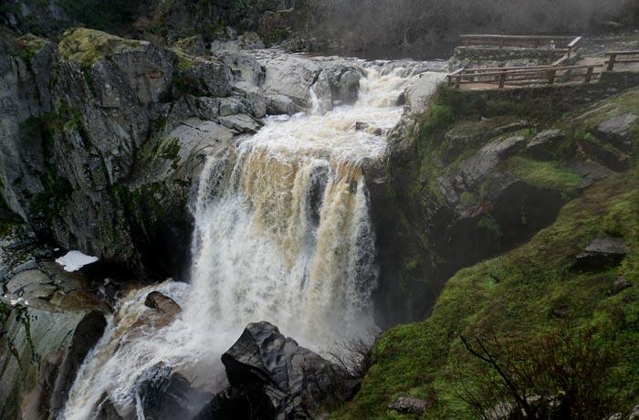 Pozo de los Humos desde Masueco cascadas de Salamanca